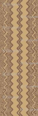 Brown Wheat Zigzag Stripe Vertical © Gingezel™