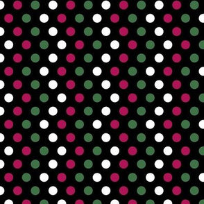Chevron Spots on Black
