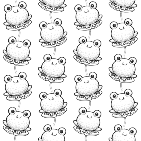 Pencil_Frogs fabric by woodmouse&bobbit on Spoonflower - custom fabric