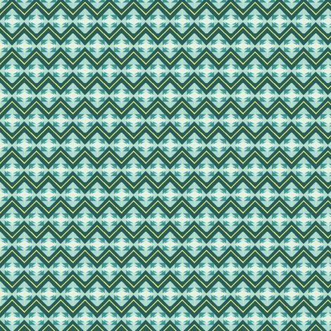 Teal and Yellow fabric by pipergirl on Spoonflower - custom fabric