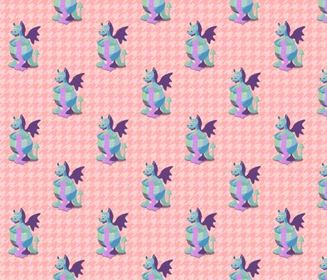 Patchwork Knitting Dragon fabric by unicorgi on Spoonflower - custom fabric