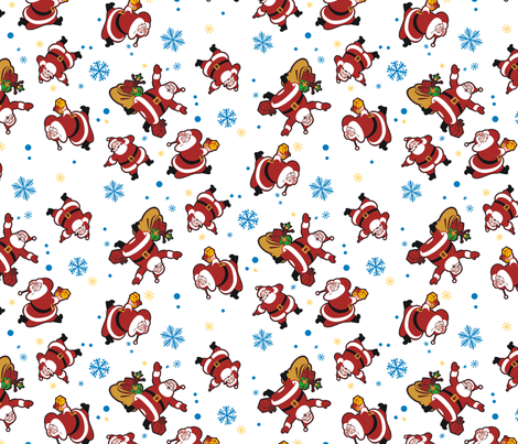 Little Santa fabric by hannafate on Spoonflower - custom fabric