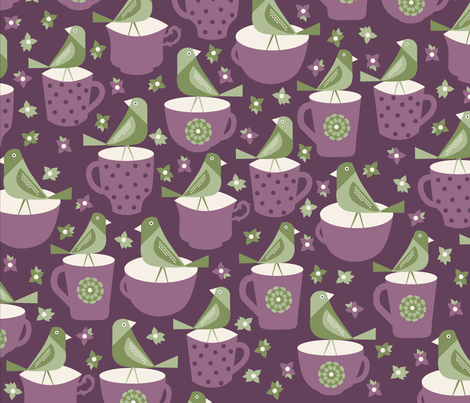 Sunday Tea fabric by oliveandruby on Spoonflower - custom fabric
