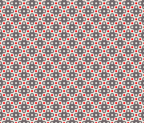 grey_and_strawberry_dot fabric by holli_zollinger on Spoonflower - custom fabric