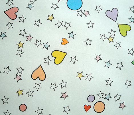 '80s to the Max || retro pop art hearts stars scatter children kids baby nursery