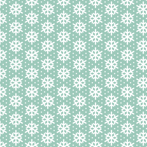 winter bird snow (aqua) fabric by sef on Spoonflower - custom fabric