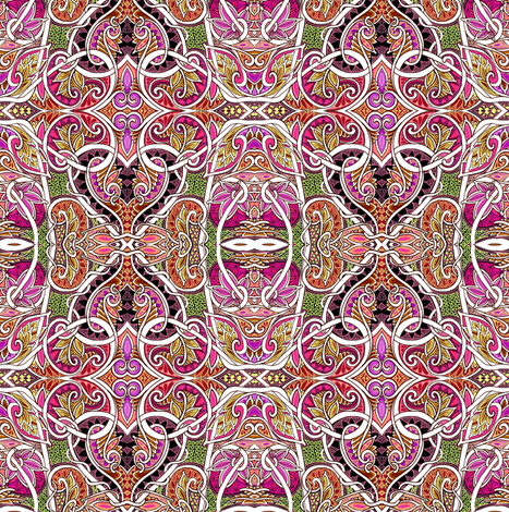 In Love With Autumn Paisley fabric by edsel2084 on Spoonflower - custom fabric