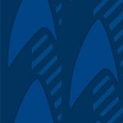 Star Trek blue fabric