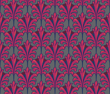 Hamilton Fleur fabric by olga_munro on Spoonflower - custom fabric