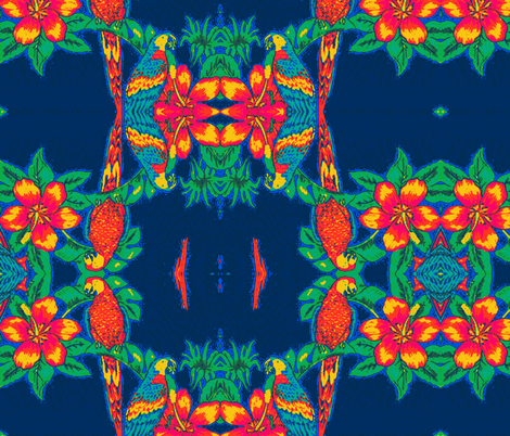 tropical parroting fabric by ann-dee on Spoonflower - custom fabric