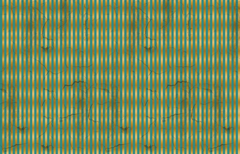 Distressed Stripe Teal and Gold SMALL fabric by kellyw on Spoonflower - custom fabric
