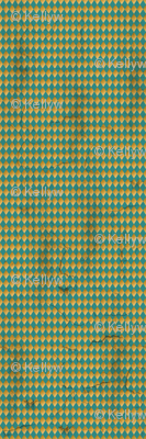 Distressed Harlequin Teal SMALL