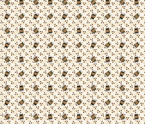 Swiss Mocha Dot fabric by jolenebalyeatdesigns on Spoonflower - custom fabric