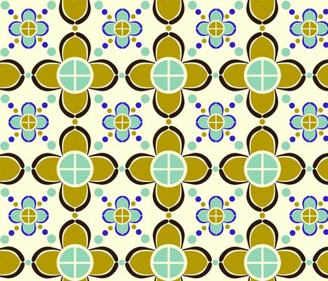metro_flower fabric by paintedstudioartdesign@gmail_com on Spoonflower - custom fabric