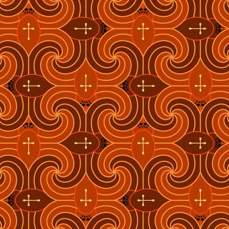 spooky spiders fabric by sef on Spoonflower - custom fabric