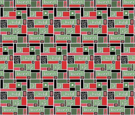 Christmas Blocks fabric by brendazapotosky on Spoonflower - custom fabric