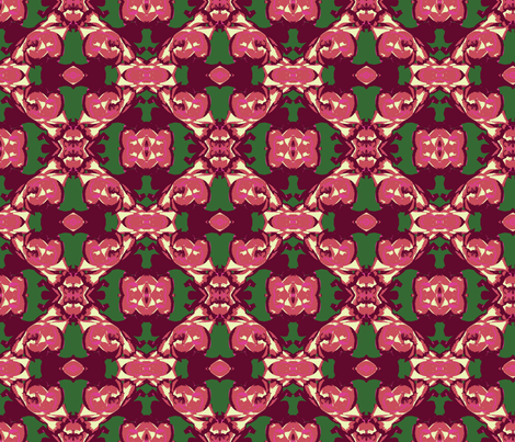 Midsummer Roses Galore Abstract fabric by fentonslee on Spoonflower - custom fabric