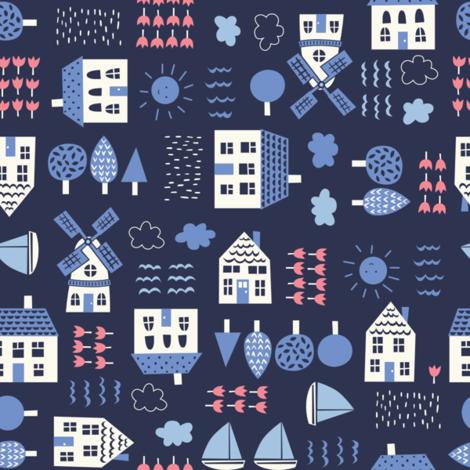 delf_conversational fabric by stacyiesthsu on Spoonflower - custom fabric