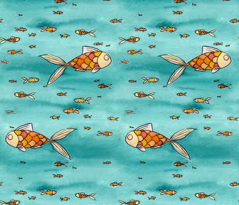 Autumn Fish fabric by sc_squared on Spoonflower - custom fabric