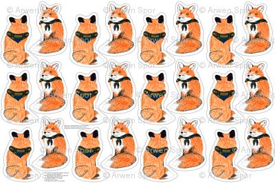 fox plushie yard