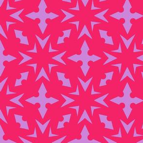 Starburst Trellis - Hot, Hot Pink