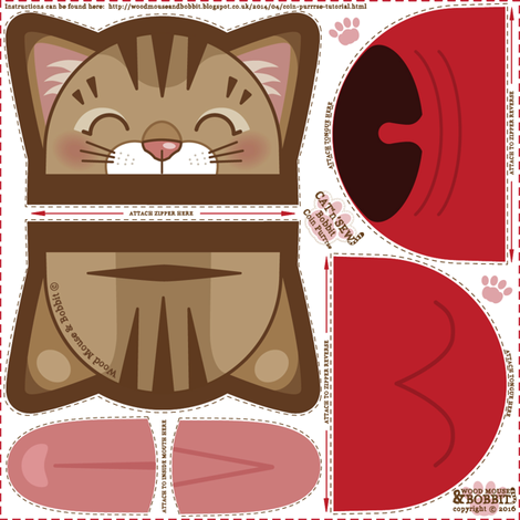 Bobbit Coin Purrse fabric by woodmouse&bobbit on Spoonflower - custom fabric