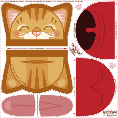 Billy_Coin_Purrse fabric by woodmouse&bobbit on Spoonflower - custom fabric