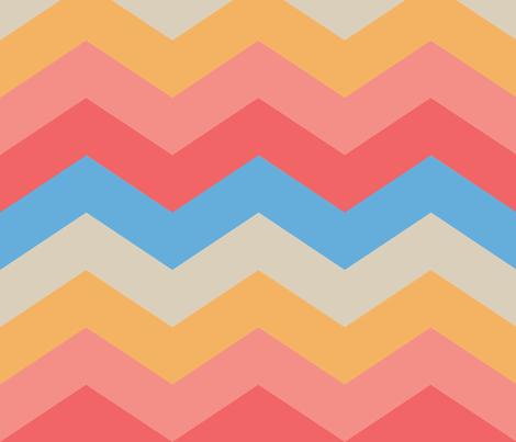 California Sunset - Chevrons fabric by jaana on Spoonflower - custom fabric