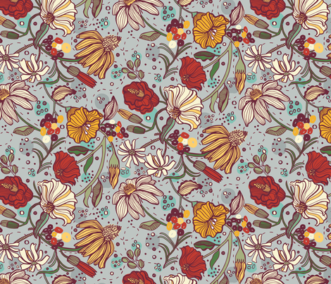 Floral Fantastique fabric by gsonge on Spoonflower - custom fabric