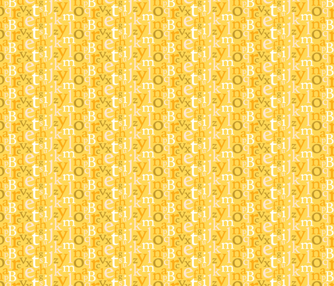 Typography Makes Me Happy fabric by carynikins on Spoonflower - custom fabric