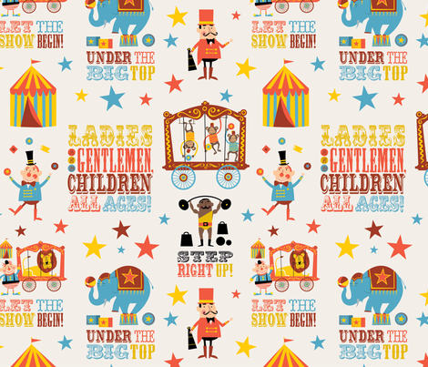 Circus fabric by edward_elementary on Spoonflower - custom fabric