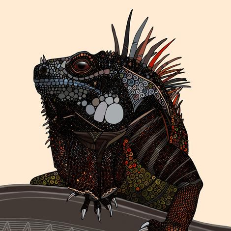 iguana ecru swatch fabric by scrummy on Spoonflower - custom fabric