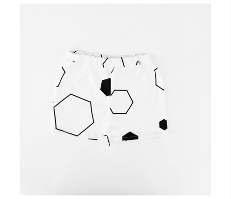 Hexagons Black and White
