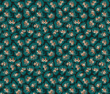 Autumn Leaves by the Lake fabric by minimiel on Spoonflower - custom fabric