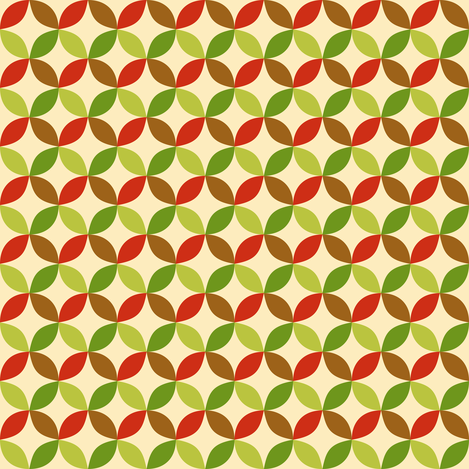 Geometric apples  fabric by petitspixels on Spoonflower - custom fabric