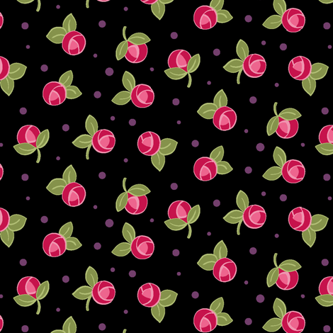 Mini_Rose_Black fabric by hollykz on Spoonflower - custom fabric