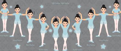 The Ballet Lesson (Blue)
