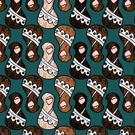 Wooden Dolls fabric by pond_ripple on Spoonflower - custom fabric