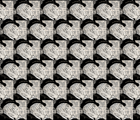 Leonard Cohen thoughts fabric by heavenly_lotus on Spoonflower - custom fabric
