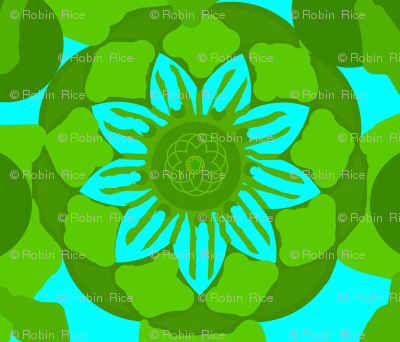 Stately Floral Turquoise