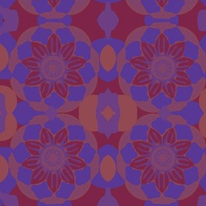 Floral Red and Blue
