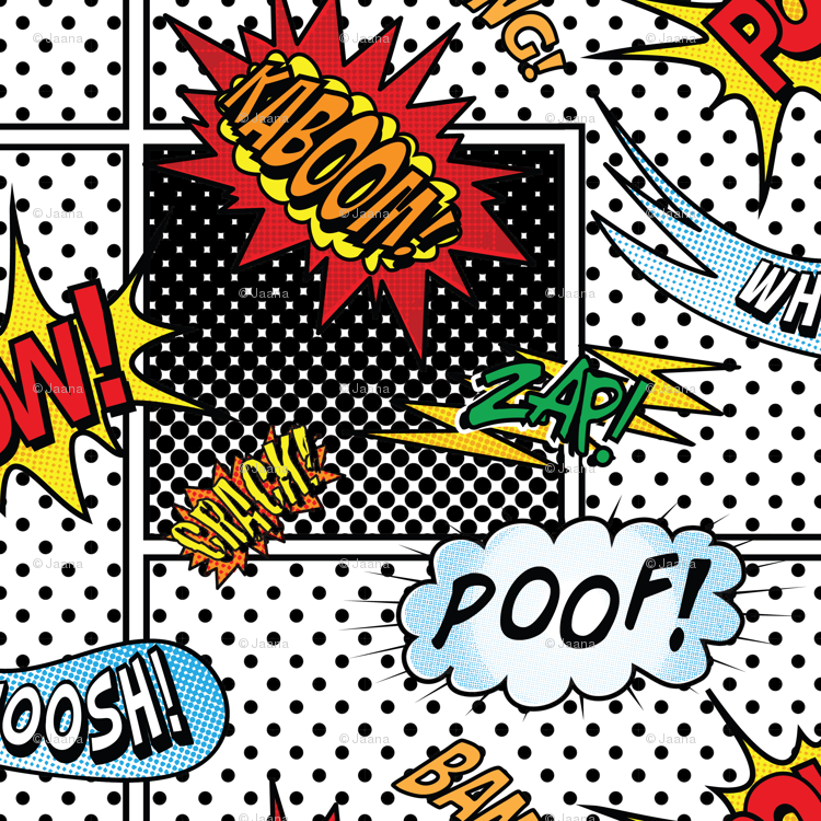 ONOMATOPOEIA! (Large Scale) wallpaper - jaana - Spoonflower