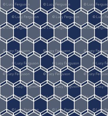Blue Grey Geo