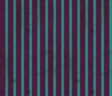 Distressed Purple and Teal Stripe (narrow) fabric by elizabeth on Spoonflower - custom fabric