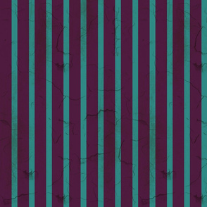 Distressed Purple and Teal Stripe (narrow)
