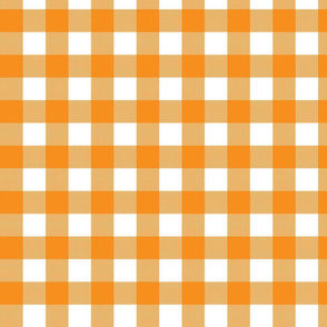 Gingham Check - Orange