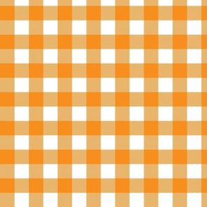 Gingham Check - Orange