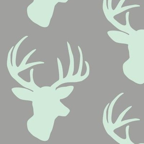 Mint deer on grey