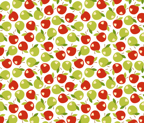 Bitten apples fabric by petitspixels on Spoonflower - custom fabric