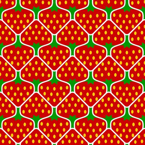 strawberry 2j fabric by sef on Spoonflower - custom fabric